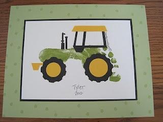 tractor footprint_crafts