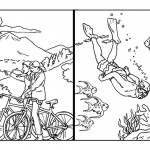 travel_biycle_diving_coloring_pages