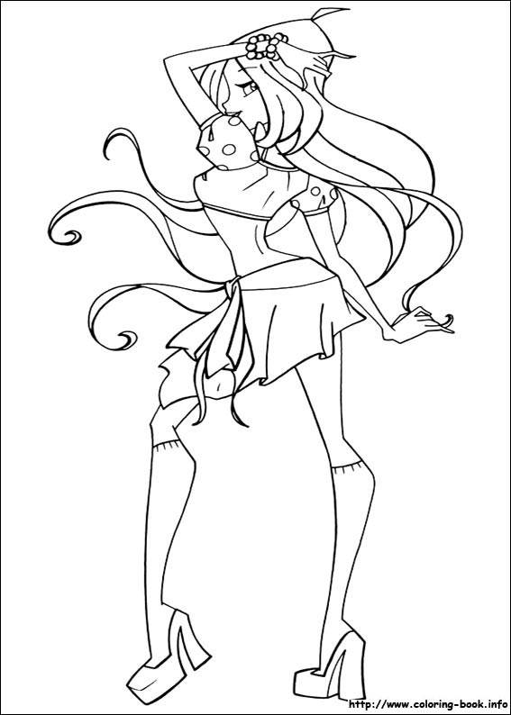 Winx Club Bloom Stella Musa Flora Tecna Layla Coloring Pages 24