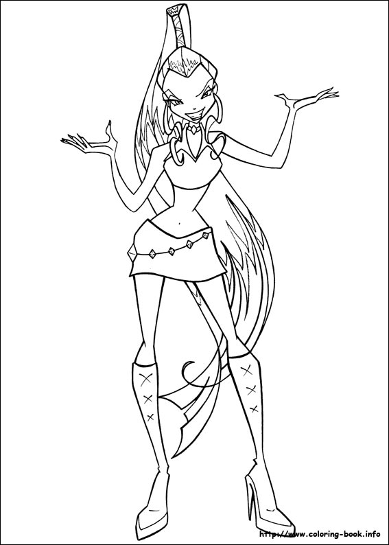 Winx Club Bloom Stella Musa Flora Tecna Layla Coloring Pages 63