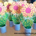 yogurt cup flower craft