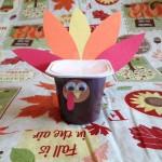 yogurt cup turkey craft