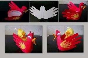 3d chicken craft for kids