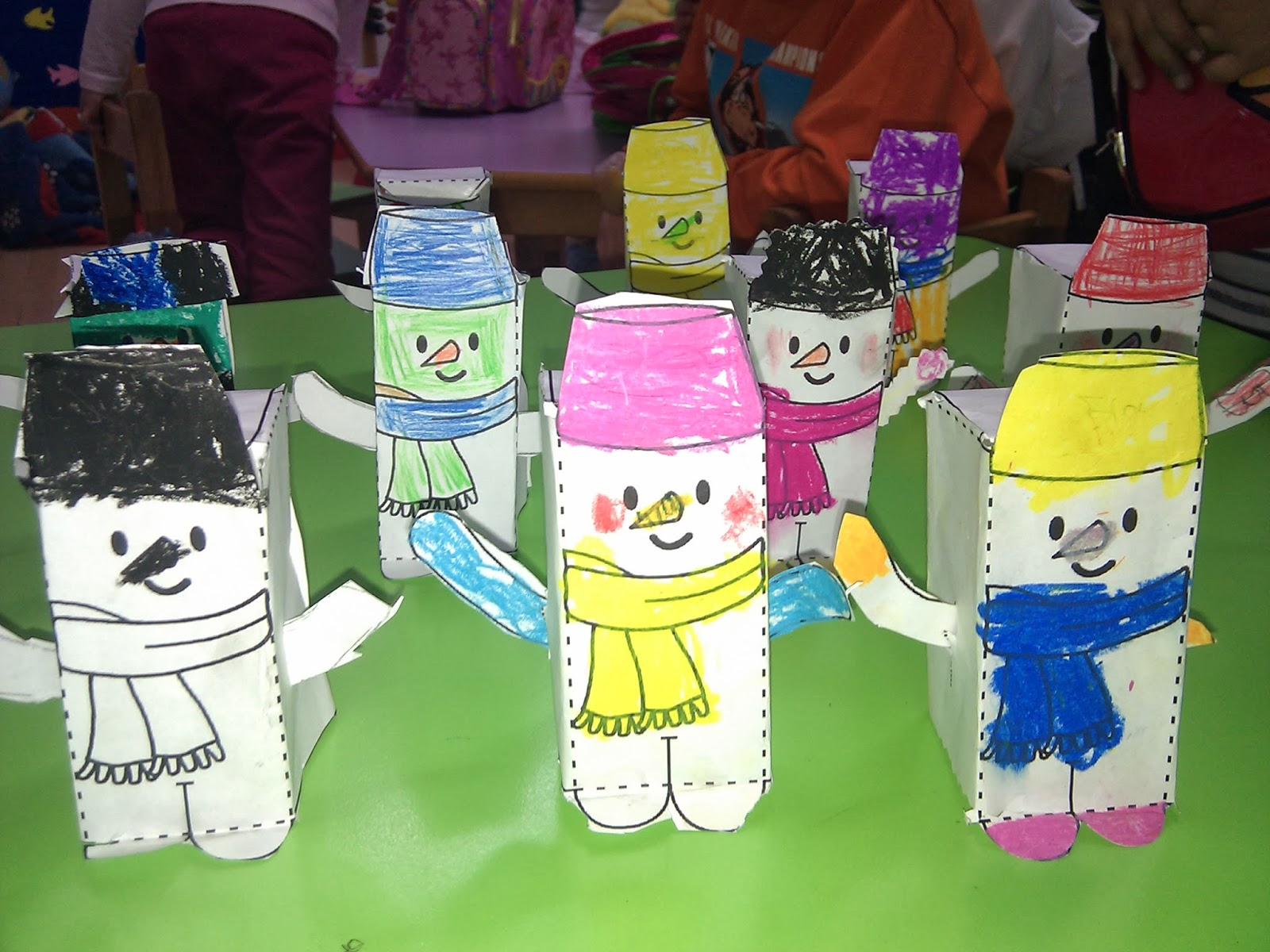 3d snowman craft with template (2)