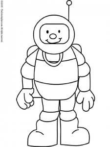 Astronaut  Free printable coloring pages for kids