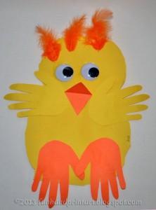 Baby Handprint Chick