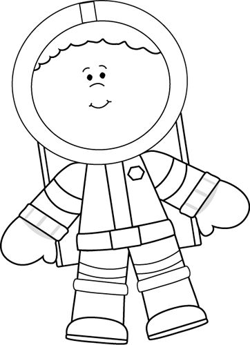 Black And White Little Boy Astronaut 1 Crafts And Worksheets For