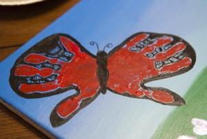 Butterfly Hand Print Art