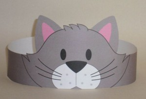Cat (Gray) Crown - Printable