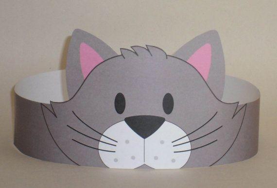 Cat (Gray) Crown – Printable