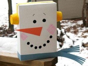Cereal Box Snowman