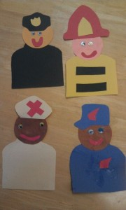 Community Helpers - Police, Fire, Nurse, Post