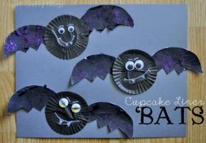 Cupcake Liner Bats craft