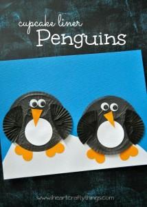 Cupcake Liner Penguin Craft for Kids
