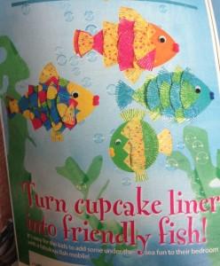 Cupcake liner fish craft 1