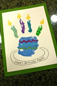 Cute birthday card using handprint