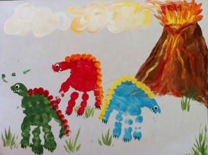 Dinosaur hand prints 1