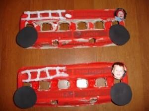 Firetruck Egg Carton