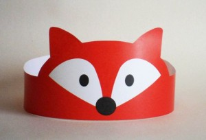 Fox Paper Crown