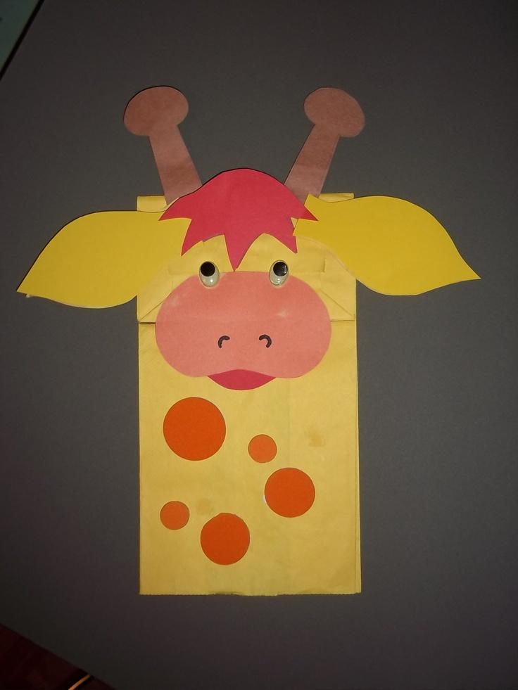 GIRAFFE bag puppet