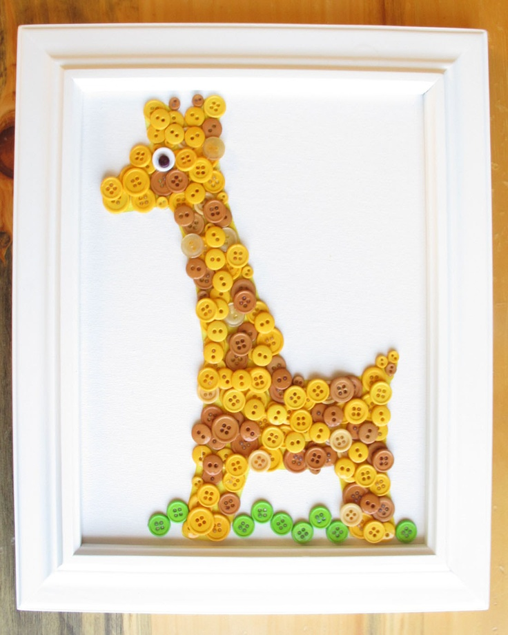 Giraffe Button Animal