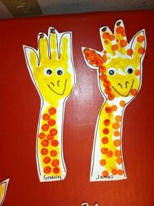 Giraffe Handpint craft