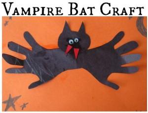 Handprint Bat Craft For Kids