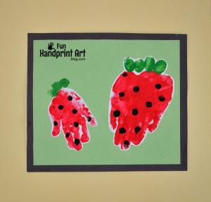 Handprint-Strawberry-Craft-for-Kids