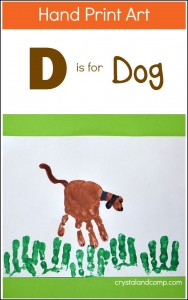 Handprint dog craft for kids