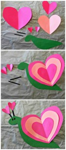 Heart Snail Craft For Kids