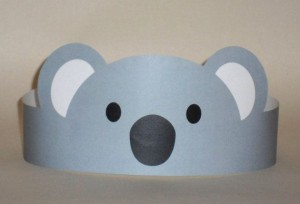 Koala Paper Crown - Printable