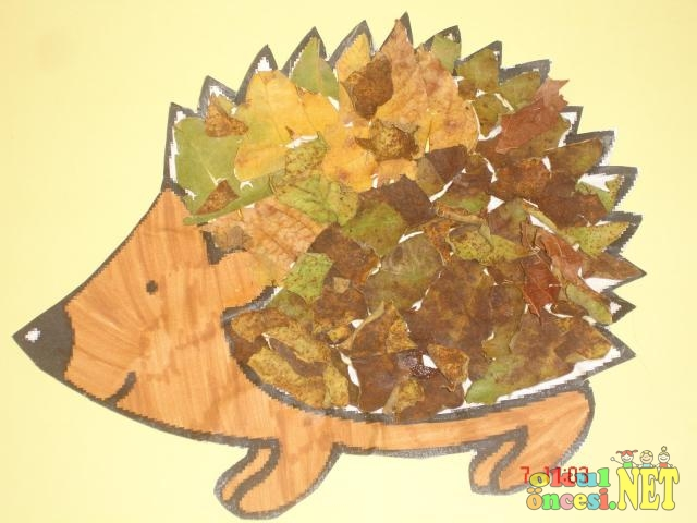 leaf hedgehogs craft crafts actvities and worksheets for preschool toddler and 2316