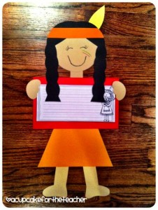 Native American kids craftivity