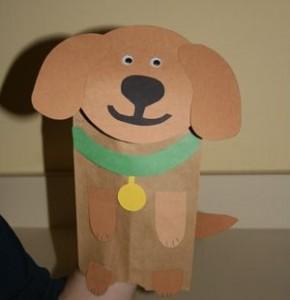 Paper Bag Puppet Dog Craft