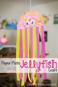 Paper Plate Jellyfish Craft 1