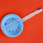Paper Plate guitar craft