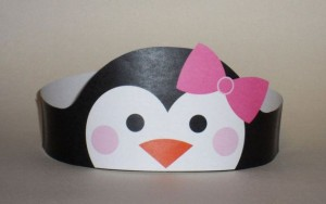 Penguin Girl Crown - Printable