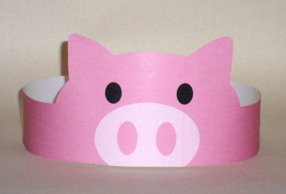 Pig Paper Crown – Printable