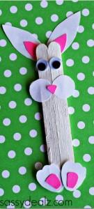 Popsicle Stick Bunny Craft
