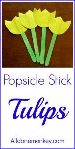 Popsicle Stick tulip Craft