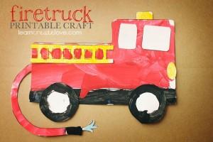 Printable Firetruck Craft
