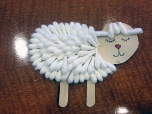 Qtip Sheep craft
