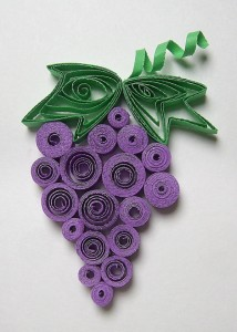 Quilled_Grapes