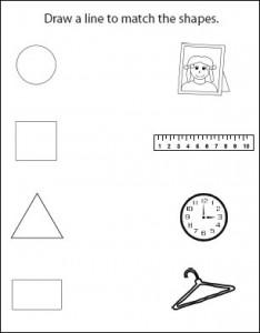 Shape Activity Sheets for the older children