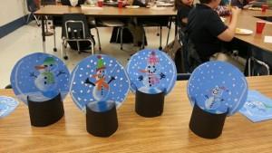 Snowman snow globes