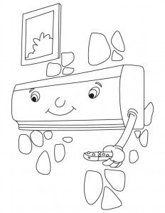 Split air conditioner coloring page