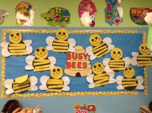 Spring bulletin board bee craft cute honey