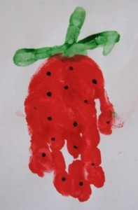 Strawberry Handprint Art!