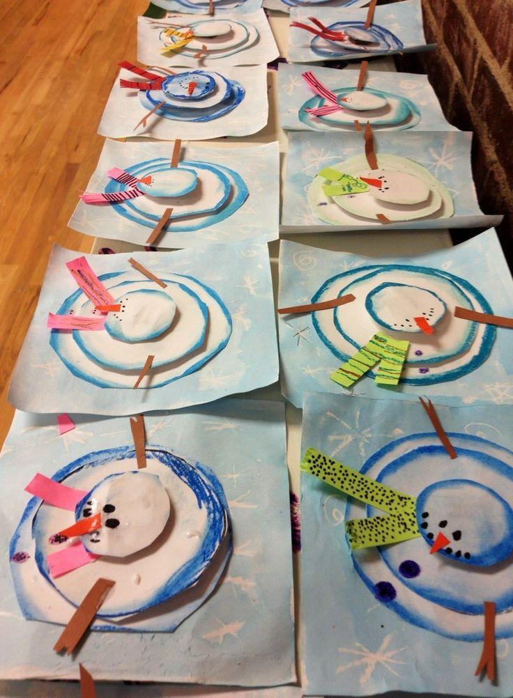 Super cute arial snowmen