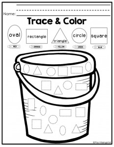 Trace color shape practice